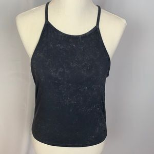 American Eagle Soft & Sexy crop tank gray Large